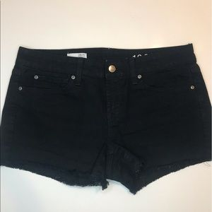 Gap black cut off denim shorts
